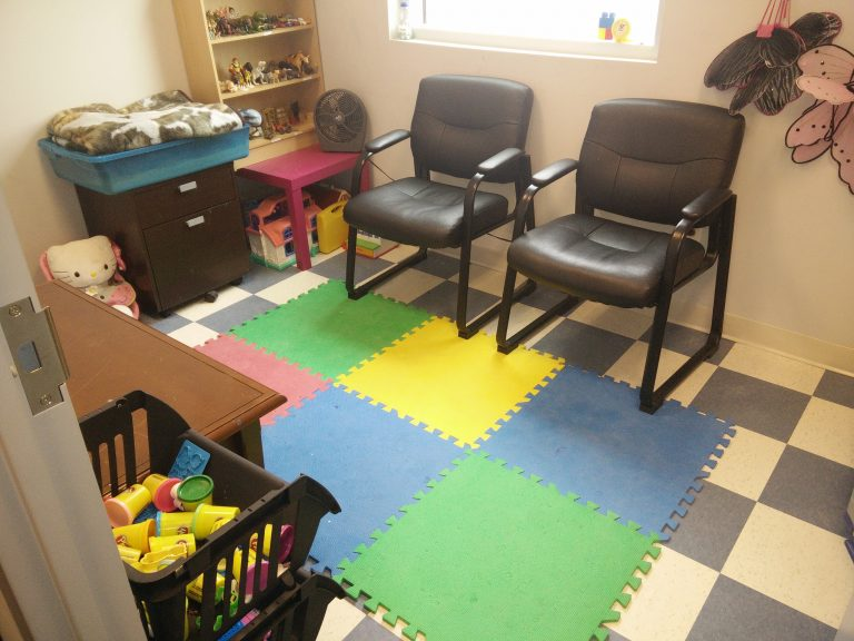 Play therapy room designed to help children heal through imagination